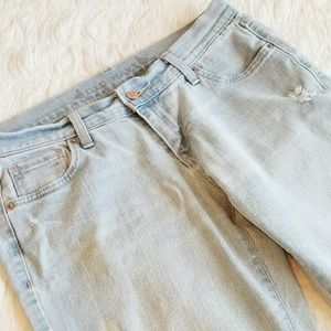 Faded Distressed Cropped Jeans by Old Navy